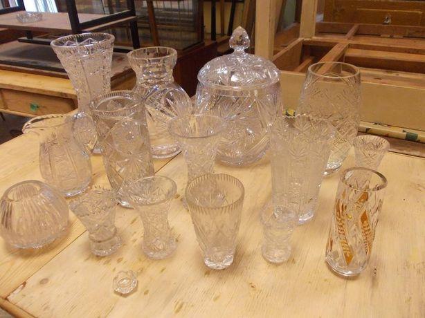 Kryształowe wazony komplet