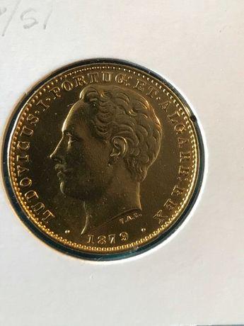 Vendo moedas em ouro de 10.000 Reis de D. Luís I de 1878 e 1879