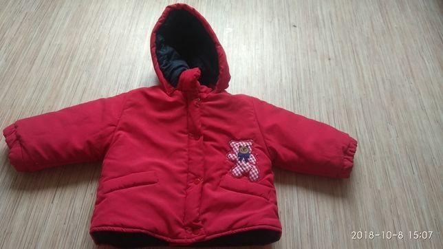 Очень красивая стеганая курточка на синтепоне, 3-6 месяцев