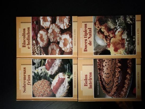 Coleção Grandes receitas - 4 livros Como Novos!