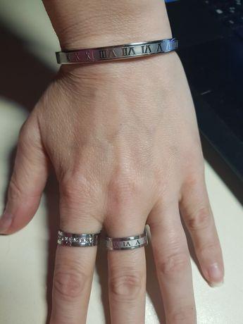 Кольцо браслет римские цифры