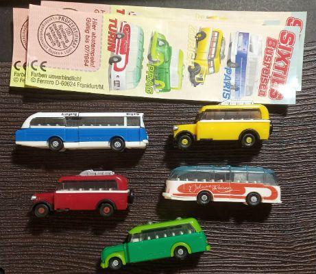 Киндер. Автобусы 60-х, серия + вариант + 4 вкл