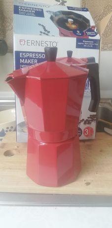 Kawiarka ekspres do kawy czerwony Ernesto Lidl