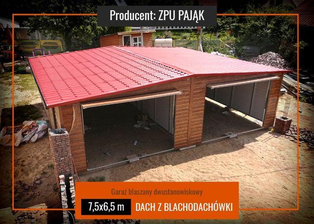 Garaż Blaszany Drewnopodobny   DACH BLACHODACHÓWKA   wysoka jakość !!!
