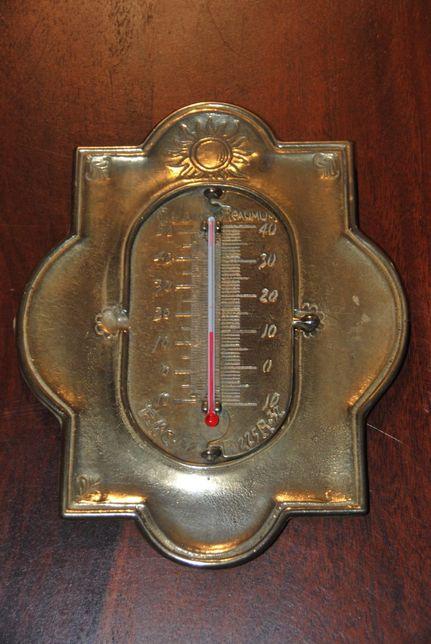 Termometr mosiężny,cztery skale