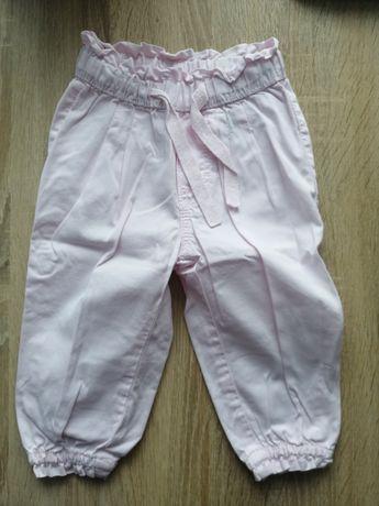 Spodnie dla dziewczynki r 74 H&m