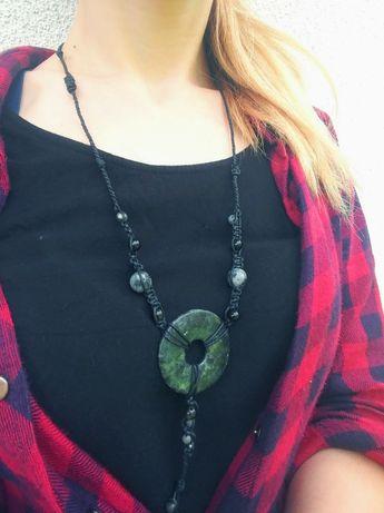 Naszyjnik z kamieniami naturalnymi