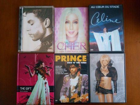 DVDs Musica Novos - Prince / Cher /Celine/ The Gift / Britney Spears