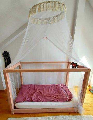 Łóżko łóżeczko dziecięce DOMEK Mila ADEKO +materac 70 x 140