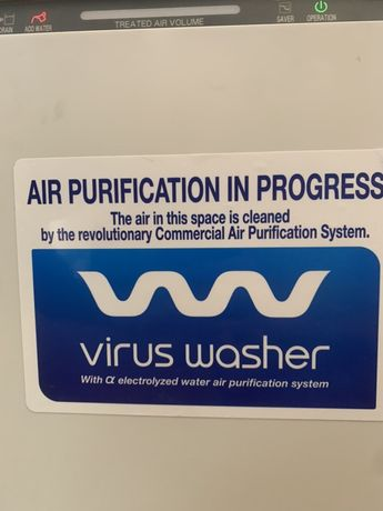 Очиститель воздуха с системой увлажненения Sanyo VW-VF10BG