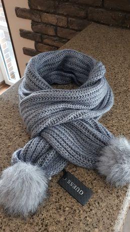 Шикарный женский шарф GUESS Новый. Оригинал!  Шерсть. Тёплый.