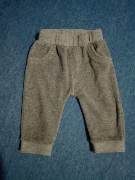 spodnie niemowlęce,szare,rozmiar 62