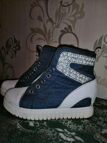 Сникерсы кроссовки джинс