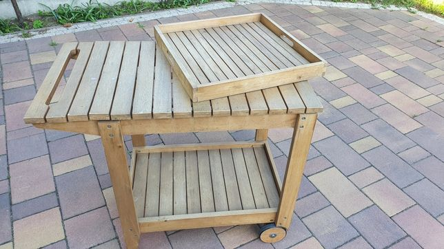 Wózek z tacą/stół ogrodowy