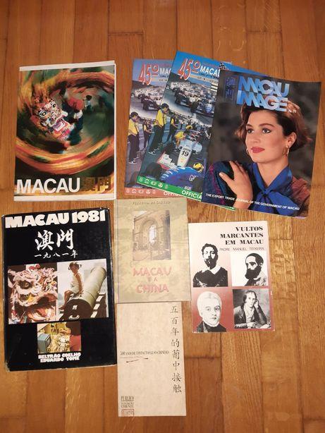 Antigos livros e revistas sobre Macau