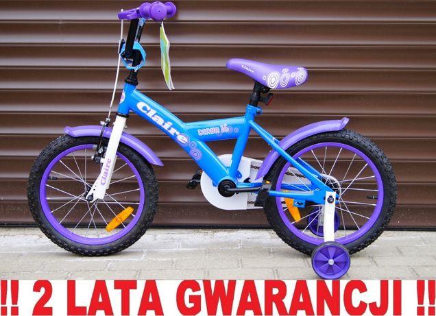 NOWY rowerek dziecięcy 16' + kółka boczne - pompowane koła + akcesoria