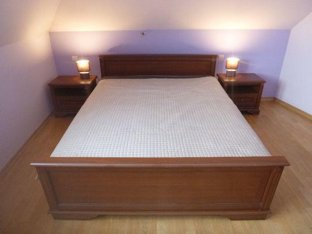 Łóżko sypialniane 1,6x2,0, 2 szafki nocne st bdb - PROMOCYJNA CENA 620