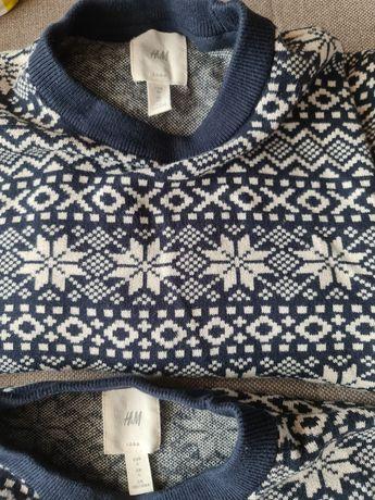 Sweter zimowy 2 sztuki L i XS (dla pary)