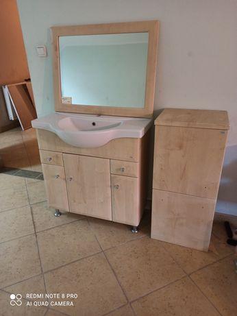 Meble łazienkowe FILA lustro szafka zestaw WYPRZEDAŻ