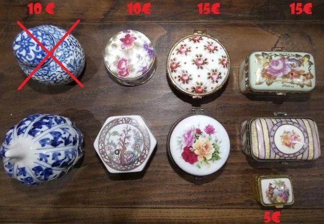 Caixinhas de porcelana fina