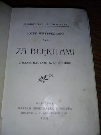 """Za blekitami "" Józef Wayssenhoff"