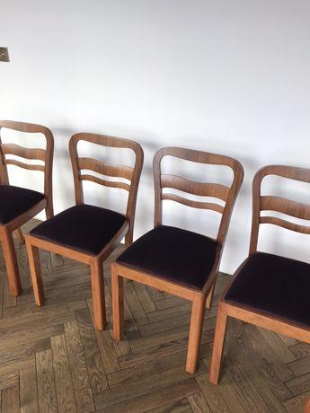4 przedwojenne krzeseła prl art deco vintage antyk midecntury stare