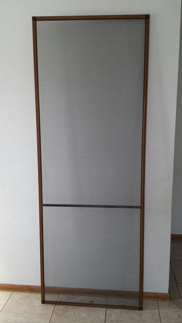 Moskitiera Na Drzwi Tarasowe Kolor Złoty Dąb - Profil Aluminiowy