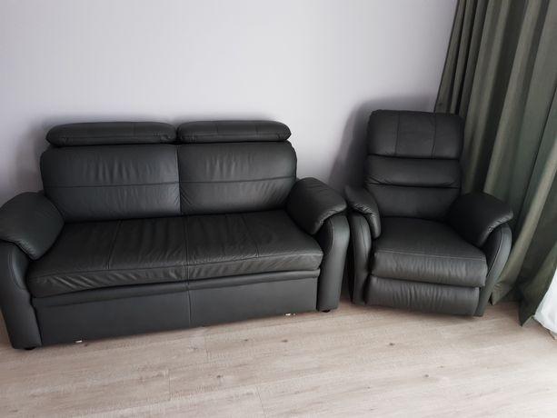 Kanapa+ fotel skóra