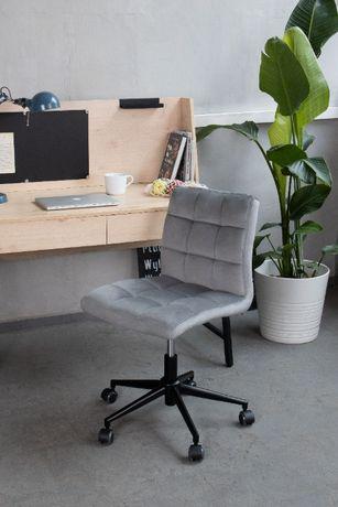 OLX-378 Krzesło obrotowe pikowane szare welur