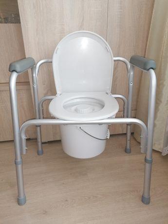 Toaleta WC krzesło jak nowe, dla chorych, niepełnosprawnych
