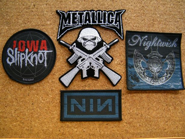 Emblemas/Remendos/Patches (Metallica, Nightwish, Iron Maiden, etc.)