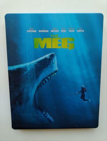 Blu-ray The Meg: Tubarão Gigante - Edição Steelbook - Blu-ray 3D + 2D