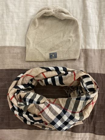 Шапка guess, шарф, платок