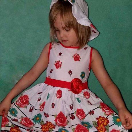 Дитяче літнє плаття +панамка