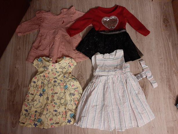Ubranka dla dziewczynki rozm 80