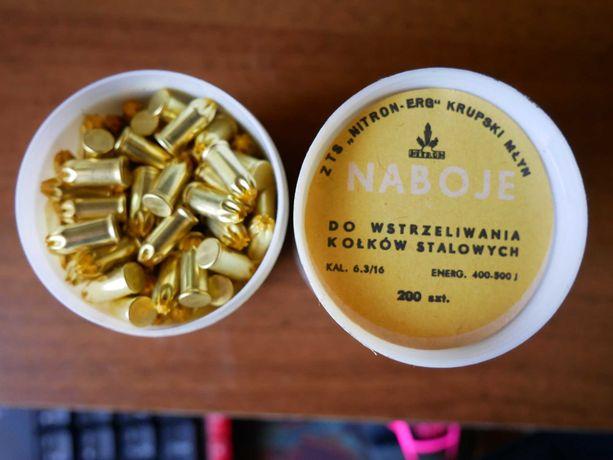 Naboje osadzaka 6.3/16 żółte 200 szt.