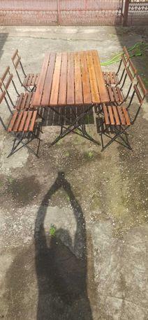 Stół i krzesła ogrodowe skladane