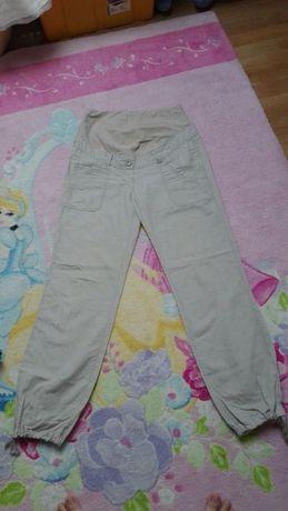 Spodnie ciążowe H&M mama lniane roz 38