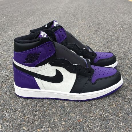 Кроссовки Nike Air Jordan 1 Retro High OG Court Purple джорданы фиолет