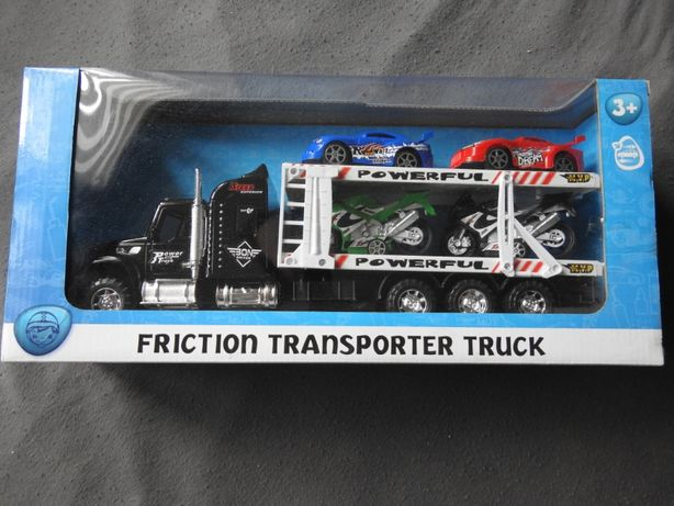 Transporter, Laweta, Tir, oraz 2 samochody i 2 motocykle