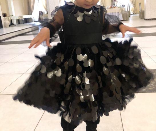 Дитяче платтячко чорне паєтки плаття платье детское нарядне празднично