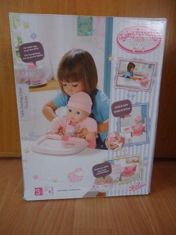 Krzesełko do karmienia z tacą Baby Annabell