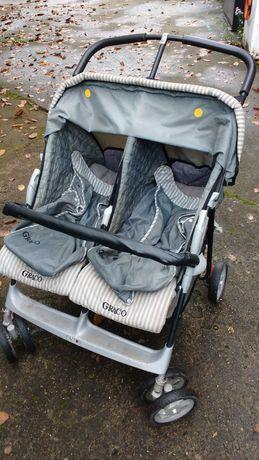 Dwuosobowy składany wózek spacerowy