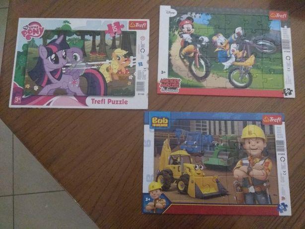 Treffl PUZZLE 3+ Ponny, Micki i Bob Budowlany