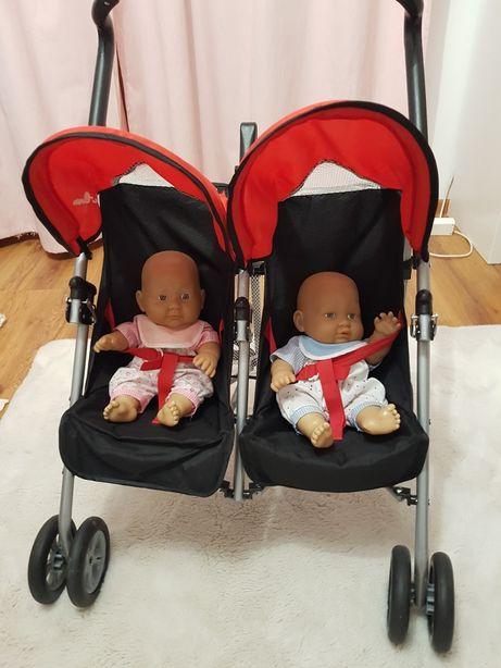 Wózek dla lalek bliźniaki + lalki gratis!!
