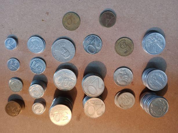 Zestaw monet jak na zdjęciach