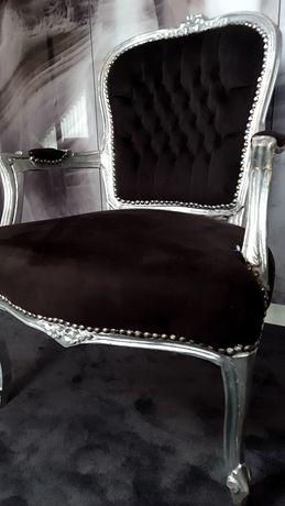 Krzesło czarne glamour