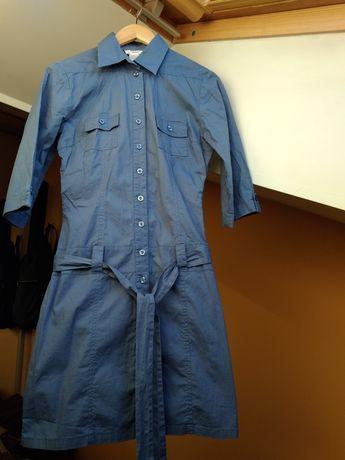 Szmizjerka sukienka niebieska John Baner jeanswear 36/S