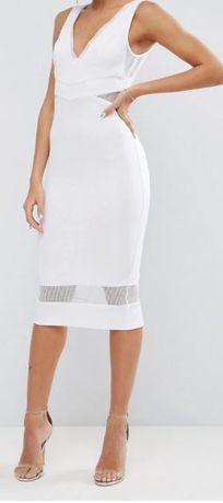 FGH sukienka biała wstawki 36