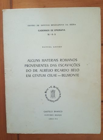 Manuel Leitão - Alguns materiais Romanos provenientes das escavações d